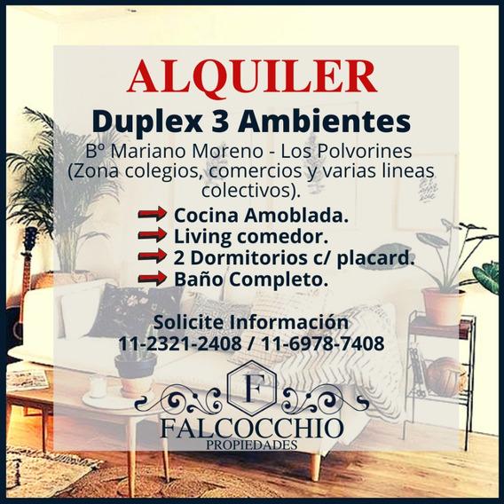 Duplex En Alquiler 3 Ambientes Moderno Los Polvorines