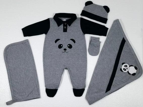 Kit Saída De Maternidade - 5 Peças Luck Panda Menino