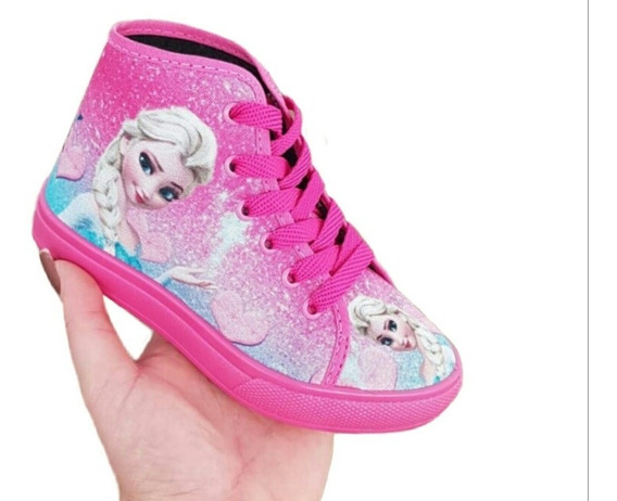 Tenis Frozen Princesa Infantil Feminino S/ Luz Led Promoção