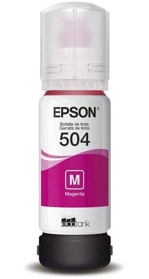 Garrafa De Tinta Epson T504 Ecotank - Magenta (rosa)