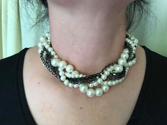 Collar Fantasía Perlas Negro