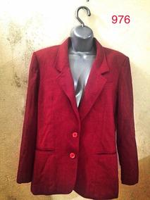 Blazer Social 42 Vermelha Lã Forrado Luxo Lasty