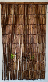 Cortina Persiana De Bambú Diseño Lisa Lineal