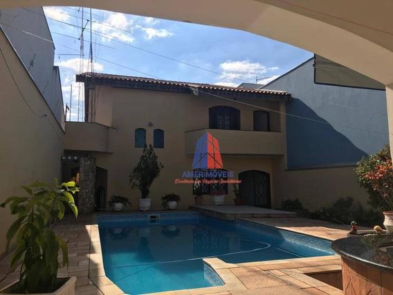 Casa Com 3 Dormitórios À Venda, 366 M² Por R$ 1.350.000 - Vila Santa Catarina - Americana/sp - Ca1046