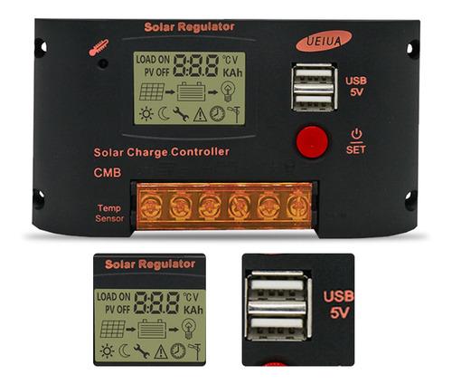 Imagen 1 de 8 de Controlador De Carga Solar 20a Para El Sistema De Panel Sola