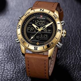 Relógio Naviforce 9144 Esportivo Digital Pulseira Couro