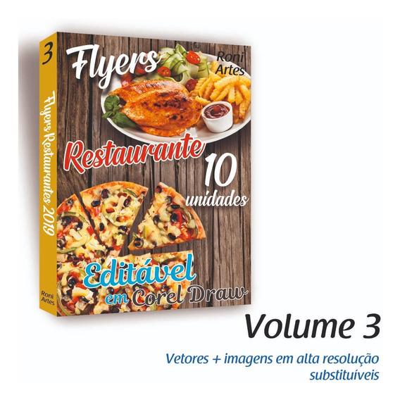 Folheto Panfleto De Restaurante Encarte Editável Em Corel Draw