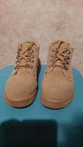 Zapatos Tipo Kikers De Dama -color Beige Talle 35
