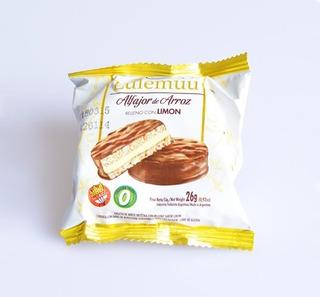 12u Alfajor De Arroz Lulemuu Limon Y Chocolate - Sin Tacc
