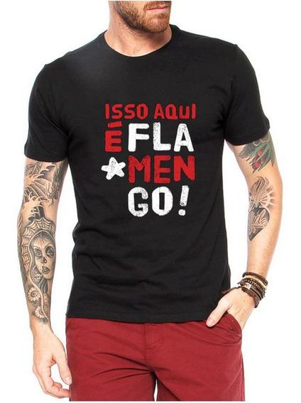 Camisa Camiseta Blusa Do Flamengo Isso Aqui É Flamengo Mengão Promoção