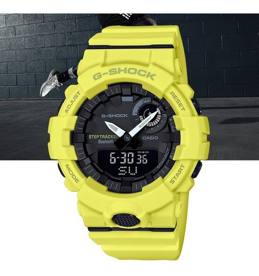 Relógio Casio G-shock Masculino G-squad Gba-800-9adr Amarelo