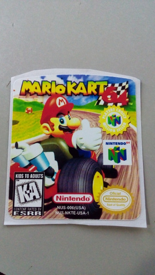 Label Mario Kart Nintendo 64 N64
