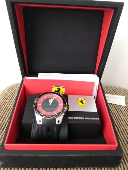 Relógio Ferrari Sf World Time Fundo Vermelho Edição Limitada