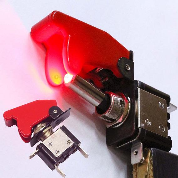 Chave Botão Caça Led Neon Tictac Turbo Tuning Interruptor Up
