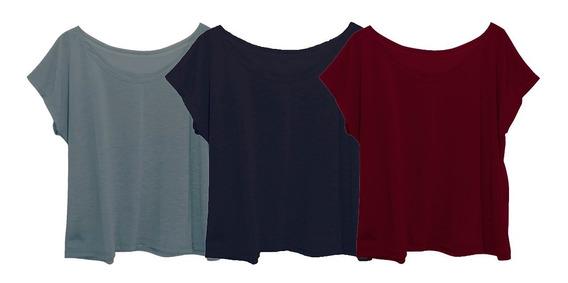 Kit 3 Blusas Blusinhas Camiseta T-shirt Plus Size G3 Escolha