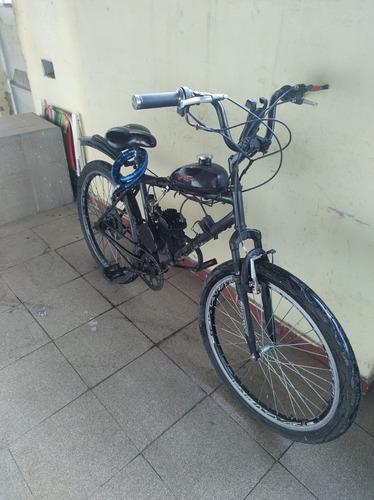 Imagem 1 de 2 de Bicicleta Motorizada 60km + Capacete + 1oleo 2 Tempo