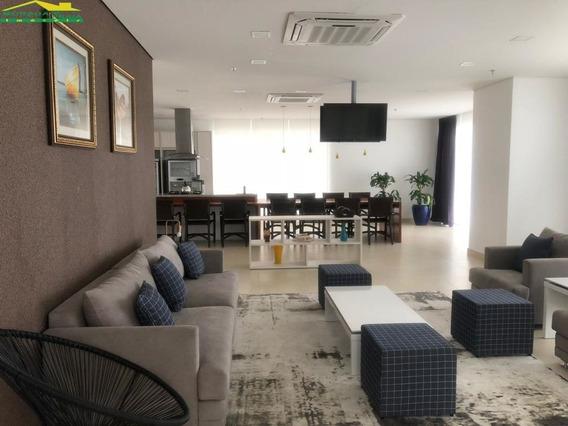 Frente Mar No Boqueirão Com 3 Dormitório (01 Suít E Lazer Completo, Só Imobiliária Em Praia Grande. - Mp14075