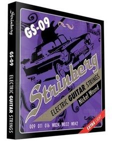 Encordoamento Para Guitarra Eletrica Strinberg 09/042 Gs09