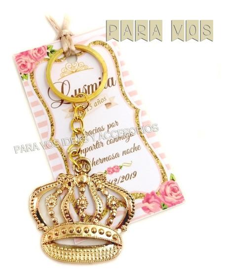 50 Souvenirs 15 Llavero Corona Llave Tarjeta Personalizada