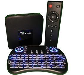 Tanix Tx3 Mini - 2gb/16gb - Android 7 + Mini Teclado Led