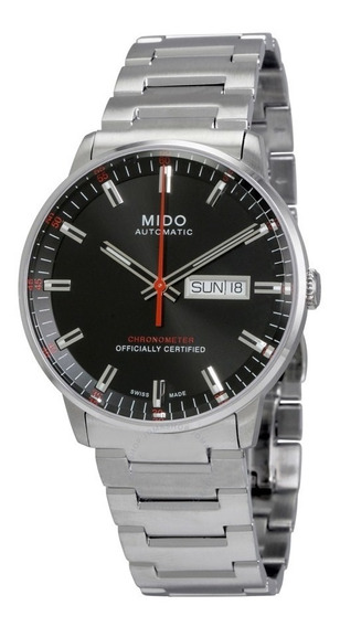 Relogio Mido M0214311105100 Commander Ii Preto Automatico