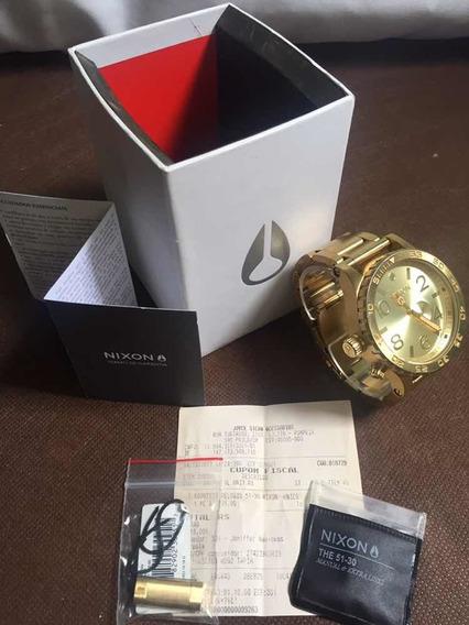 Relógio Nixon 51-30 Dourado / Original