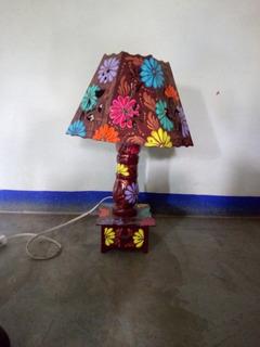 Lámpara Artesanal Con Mini Cajón