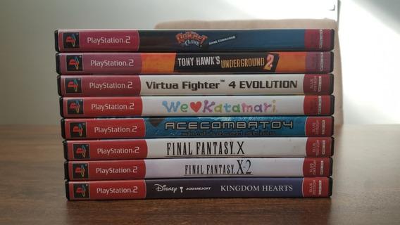 Lote De Jogos Playstation 2 Final Fantasy Kingdom Hearts