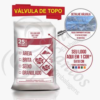 Saco Valvulado P/areia Brita Seixo C500 18m Personalizado