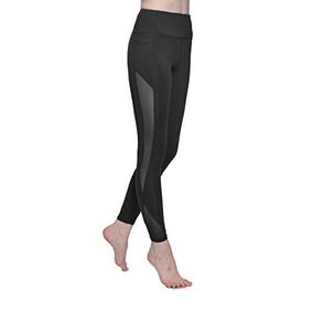 Chikool Mujer Yoga Pantalones Capri Entrenamiento Malla Leg