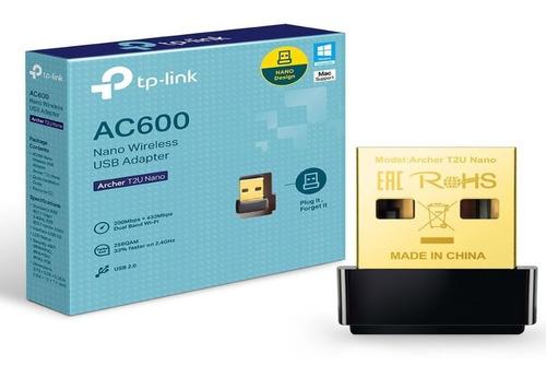 Adaptador Usb Wifi Archer T2u Nano Ac600 Dual Band Tp-link