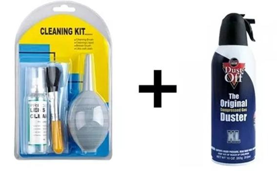 Kit Limpeza Greika Woa2033b+ Spray De Ar Comprimido Dust Off