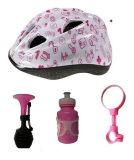 Capacete Bicicleta Infantil Espelho, Buzina Garrafinha