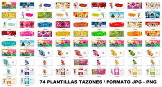 90 Plantillas Sublimación Multiuso Tazones - Duendes Mágicos