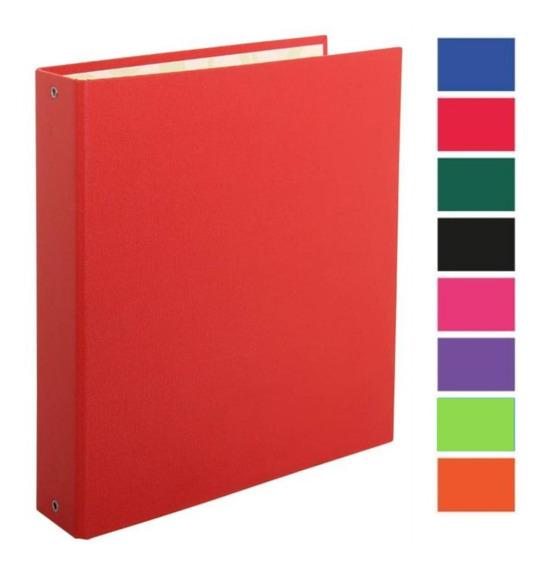 Carpeta Pvc Nº3 3 Ganchos Redondos Colores Escolar