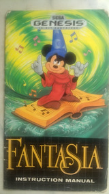 Manual Do Jogo Fantasia Para Sega Genesis / Mega Drive