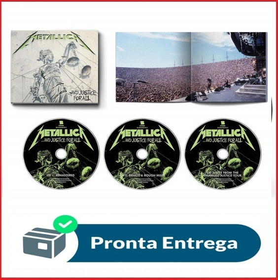 Cd Metallica And Justice Expanded Deluxe 2018 Lacrado 3cds