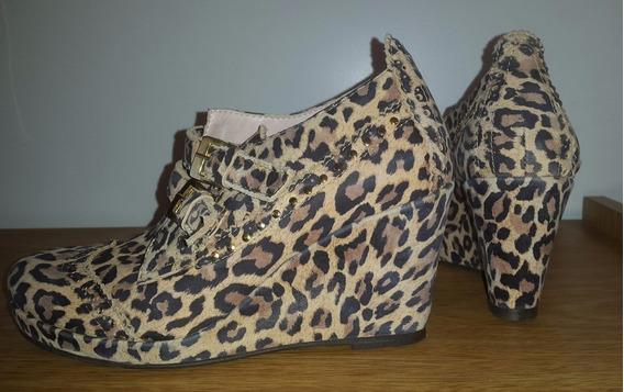 Sibyl Vane, Zapatos Botinetas 100% Cuero T.36 Solo 1 Puesta!