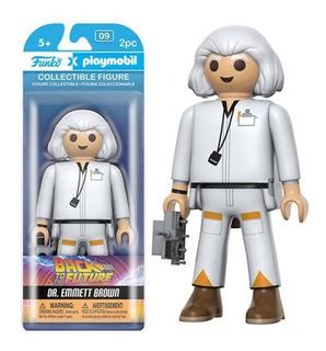 Funko Playmobil Bttf Dr. Emmett Brown Volver Al Futuro Stock