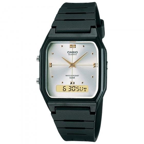 Relógio Casio Aw-48he-7avdf Masculino Preto - Refinado