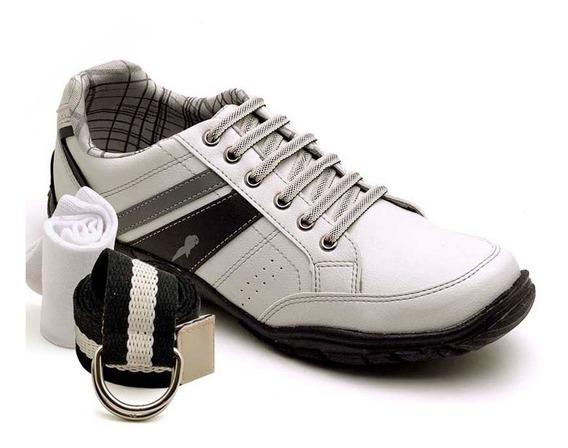 Sapatenis Kit Cinto E Meia Polo Blu Tenis Sapato Barato