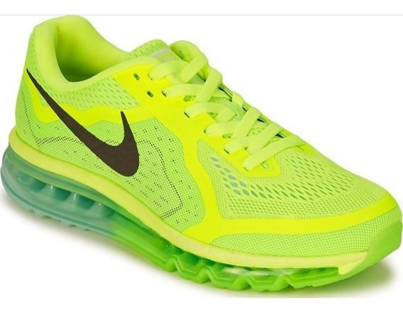 Tênis Nike Air Max 2014 Limão/celeste Original