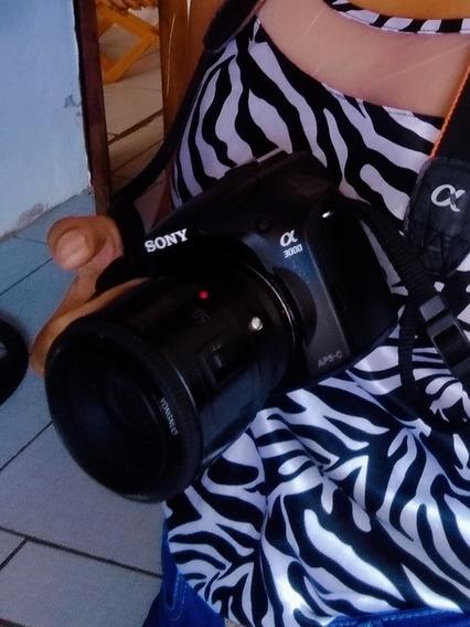 Câmera Sony A3000+ Adaptador De Lentes Canon