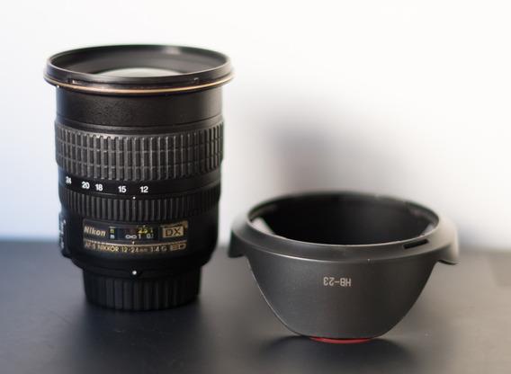 Lente Nikon 12-24mm F/4g - Dx C/ Pontos De Fungo