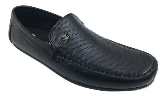 Zapato Casual Mocasin Elegancy 330 Hombre Piel Negro