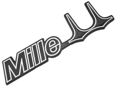 Emblema Alto Relevo Escrito Adesivo Mille