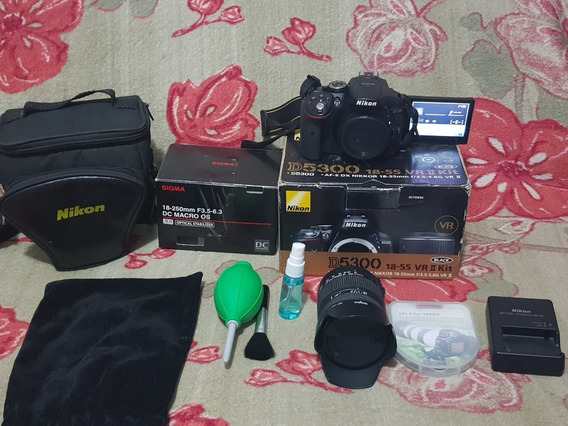 Câmera Digital Nikon D5300 Dslr(profissional) Full Hd 24,2 M