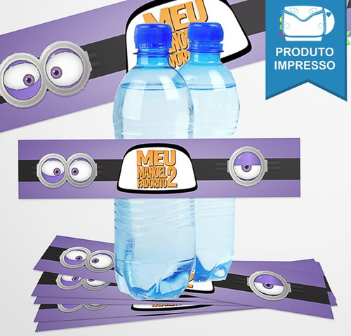 30 Rótulo Adesivo Água 500ml Minions + Frete Grátis