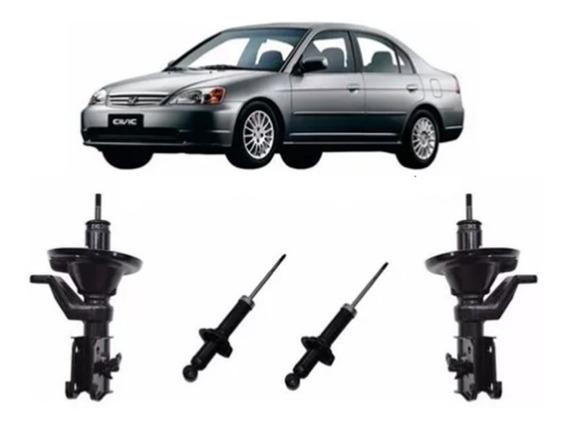 Amortecedores Honda Civic Ano 01 Á 02 Dianteiros + Traseiros
