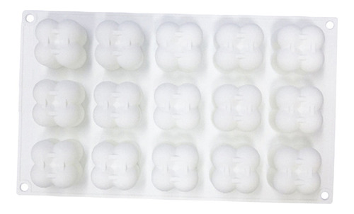 Imagen 1 de 12 de 15 En 1 Silicona Cubo Vela Molde Mini Burbuja Cubo Forma De